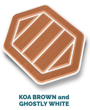 koa brown and white