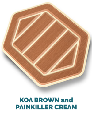 koa brown and cream