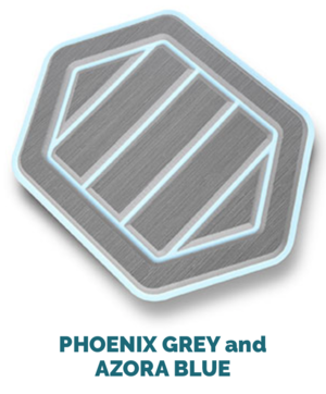 phoenix grey and azora blue