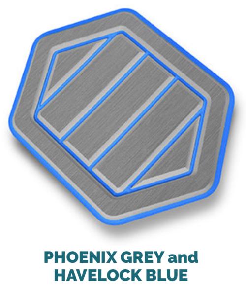 phoenix grey and havelock blue