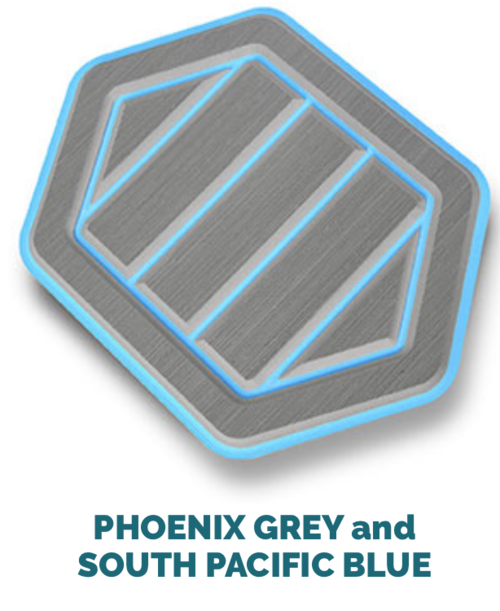 phoenix grey and south pacific blue