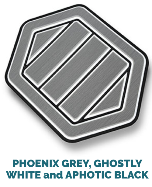phoenix grey, ghostly white and black