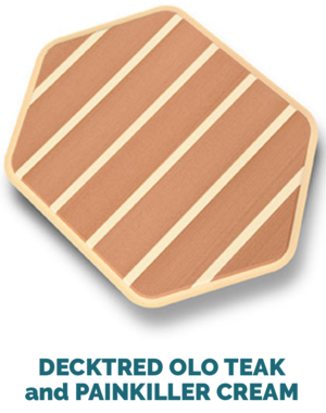 decktred olo teak and cream