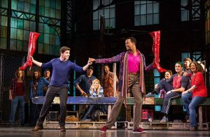 'Kinky Boots' stars Adam Kaplan, left and J. Harrison Ghee, right at Broadway in Chicago production
