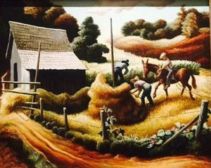 Thomas Hart Benton. Haystack, 1938. Museum of Fine Arts Houston.