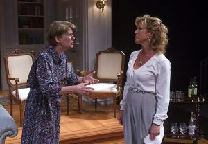 Natalie West (Jean Swift) l, and Lia Mortensen (Hester Ferris) in their Georgetown home. Photo by Charles Osgood