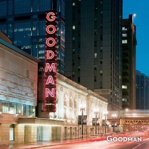 Goodman Theatre celebrated its new marquee in conjunction with Ghostlight Project. Goodman Theatre photo