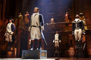 Alexander Hamilton and cast. Joan Marcus photo
