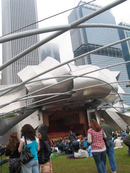 Pritzker Pavilion in Millennium Park hoss summer concerts. ( JJacobs photo)