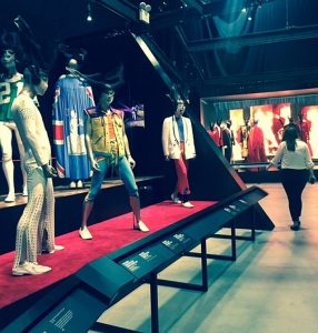 Rolling Stones costumes in Exhibitionism at Navy Pier. Jodie Jacobs phto
