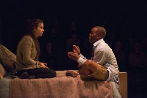 Haley Burgess and Travis Turner in 'The Mystery of Love & Sex' at Writers Theatre. Michael Brosilow Photo