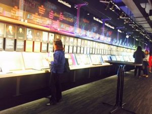 Wall of literary history at American Writers.Jodie Jacobs photo