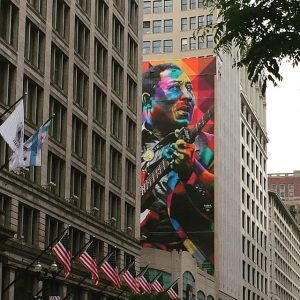 Muddy Waters Mural dedication is June 8, 2017. It's a good start to the Chicago Blues Festival. City of Chicago photo