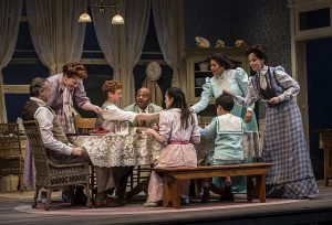 """The extended Miller family in Eugene O'Neill's """"Ah, Wilderness!"""" at Goodman Theatre. Photo by Liz Lauren"""