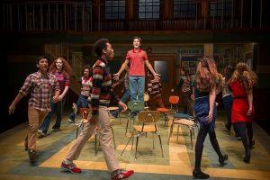 Trevor (Eli Tokash) and classmates in 'Trevor, the musical' at Writers theatre. Michael Brosilow photo