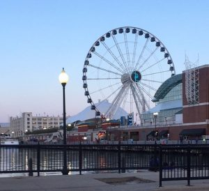 Navy Pier, at the east end of Grand Avenue host EXPO Chicago.. Photos by Jodie Jacobs
