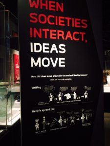 Cultures and ideas change as people move is an important point of Field exhibit. Jodie Jacobs photos