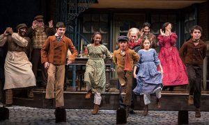 Cast of 'A Christmas Carol' at Goodman Theatre. Liz Lauren photo