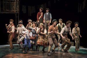 Cast of Newsies at Marriott Lincolnshire Theatre. Liz Lauren photo