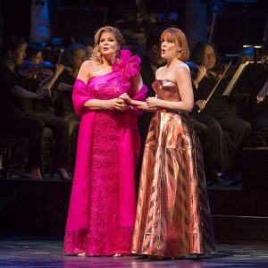 Susan Graham and Kate Baldwin at Lyric Opera's tribute celebration of Leonard Bernstein