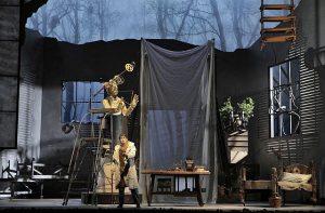 Benjamin Bernheim as Faust in his studio. Photos by Cory Weaver