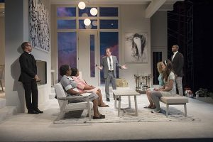 Cast of Guess Who's Coming to Dinner at Court Theatre. Michael Brosilow photos