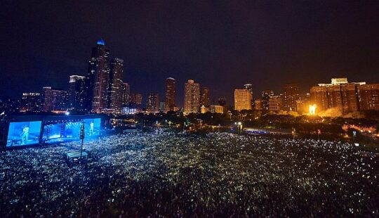 Lolla 17 aerial photo By Charles Reagan Hackleman