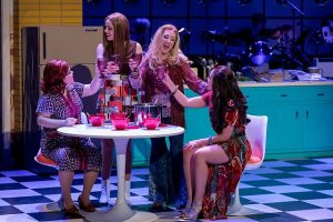 Marissa Rosen (Dottie O'Farrell), Cortney Wolfson (Joan Smith), Libby Servais (Connie Olsen) and Linedy Genao (Agnes Crookshank) in A Taste of Things to Come.