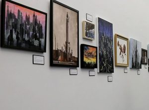 Wolrks by Sandra Holubow and Julia Oehmke are on exhibit at the Chicago Cultural Center. (Reno Lovison photo)