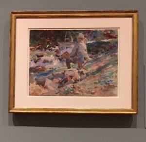 John Singer Sargent, 1914 'An artist at His Easel'