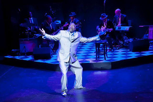Rick Stone is the Blues Man at Black EnsembleTheater.