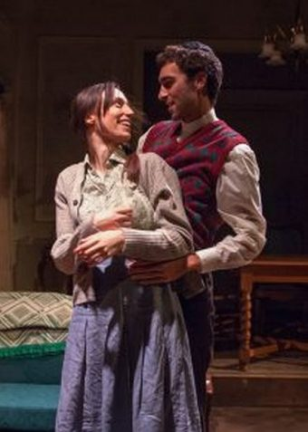 Lusia (Emily Berman) dreams of her husband Duvid (Alex Stein) whose fate she does not know since they were separated during World War II. Photo by Lara Goetsch)
