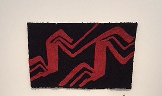 "Enrico David ""Untitled"" Ombre Rosse), 2017, wool on canvas. (J Jacobs photo)"