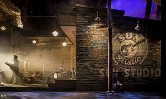 Chicago set designer Kevin Depinet has recreated Sam Phillips's original Sun Records studio in Memphis – where Elvis Presley, Johnny Cash, Jerry Lee Lewis and Carl Perkins played together their first and only time. Liz Lauren photo