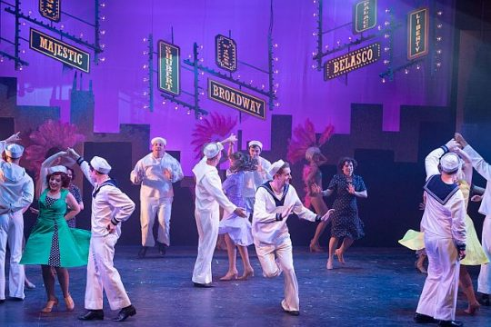 Cast of On the Town at Northbrook Theatre (Zach Dalir Photography)