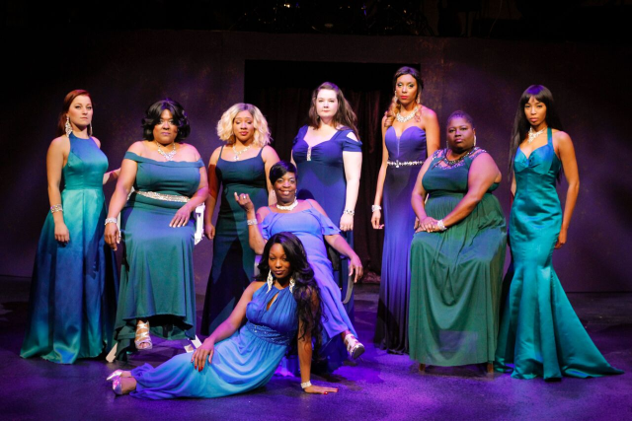 Cast of A Woman of Soul at Black Ensemble Theater. (Alan Davis photo)