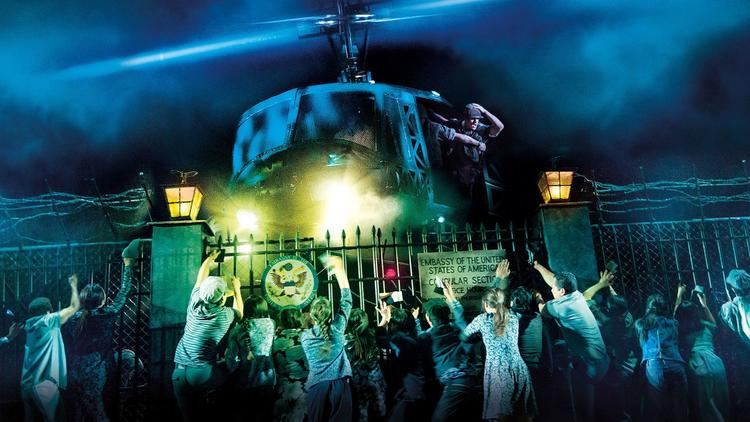 Helicopter Scene in touring production of Miss Saigon