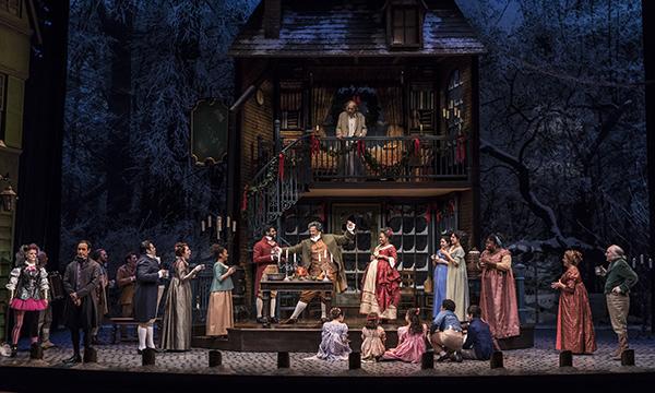Cast of A Christmas Carol at Goodman theatre. (Photo by Liz Lauren)