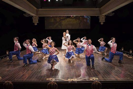 Holiday Inn cast at Marriott Theatre with Johanna McKenzie Miller and Will Burton in the center. (Liz Lauren photos)