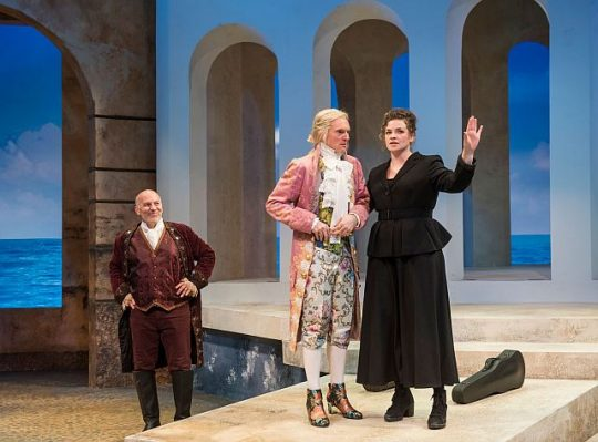 Kevin Gudhal, Scott Parkinson and Mary Williamson in Twelfth Night