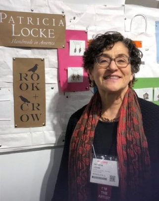 Patricia Locke at her booth in the One of a Kind Show ((J Jacobs photo)