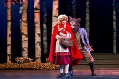 Cecelia Iole (Little Red Riding Hood) and Benjamin Sprunger (Wolf) In Music Works production of Into the Woods. (Brett Beiner photo)