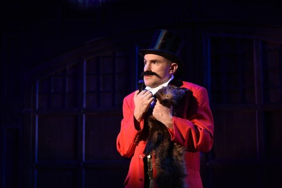 Matt Crowle (Lord Adalbert D'Ysquith) in A Gentleman's Guide to Love and Murder. (Photo by Michael Courier)