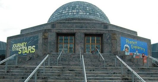 Adler Planetarium is on the eastern edge of chicago's Museum Campus. (J. Jacobs photo)