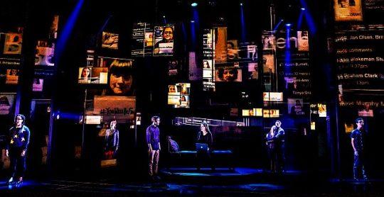 The North American touring company of Dear Evan Hanson. (Photos byh Matthew Murphy)