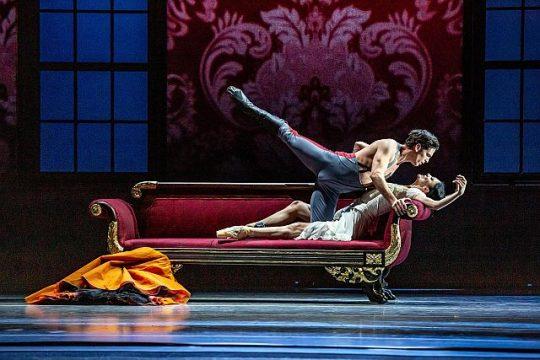 Alberto Velazquez and Victoria Jaiani in The Joffrey Ballet's 'Anna Karenina..' (Photo by Cheryl Mann)
