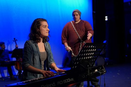 Maddie Sachs and Zach Tabor in 'An Artist and the Ember' (Photos by Nick Murhling)
