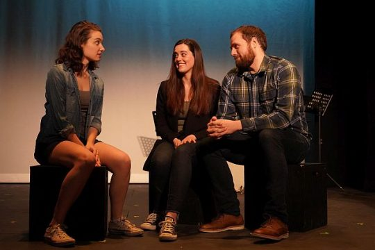 """Maddie Sachs, Taylor Snooks and Quinn Rattan in """"An Artist and the Ember"""