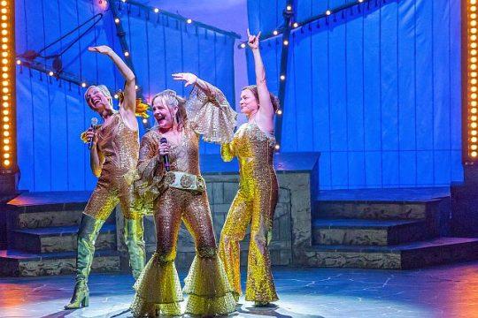 McKinley Carter, Susie McMonagle and Elizabeth Ledo in Mamma Mia! (Brett Beiner photo)