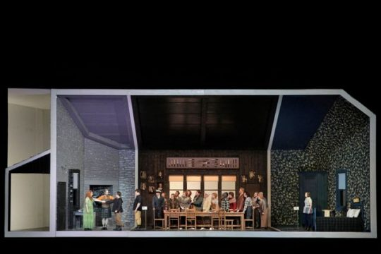 'Ariodante'in a shadow-box type set woks well at Lyric Opera of Chicago (Photo by Cory Weaver)